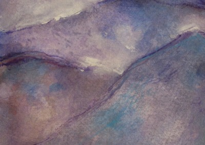 "Secret Mountains  Watercolor  8.5 x 12"" $125."