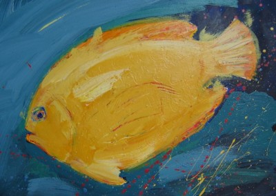 "Magic Fish II  Acrylic 11 x 14"" $150."