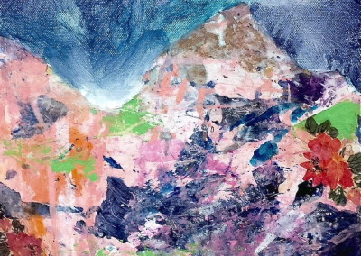 Mountain Dream/multi-media on canvas $300.