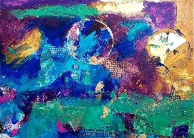 Circling the Galaxy/acrylic on canvas 16x20' $475