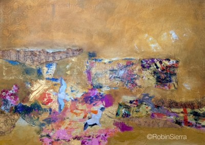 "Golden Dream/mixed media on canvas 18x24"" $475"
