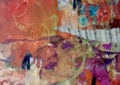 "She Blesses/mixed media on canvas 18x24"" $475"